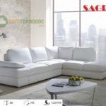 Có nên chọn ghế sofa góc màu trắng cho phòng khách hay không?