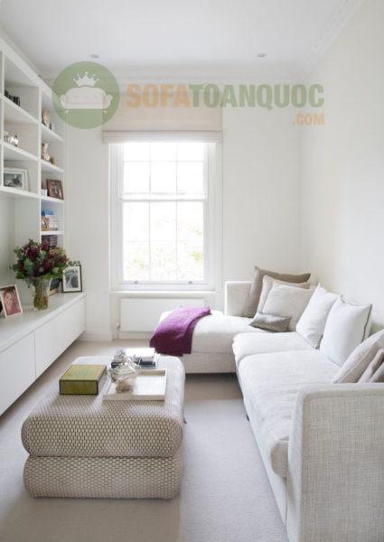 bàn ghế sofa chữ L đẹp cho không gian phòng khách