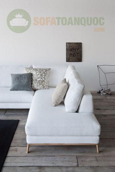 bộ bàn ghế sofa góc màu trắng đẹp tại Hà Nội