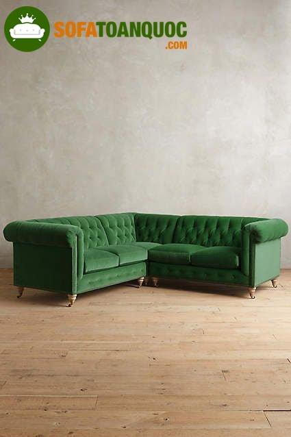 ghế sofa màu xanh lá cho người mệnh Hoả