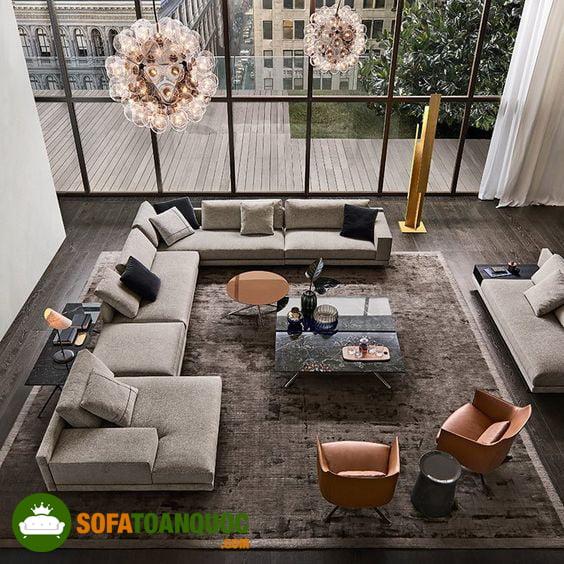 bàn ghế sofa chất liệu vải nỉ cao cấp giá rẻ