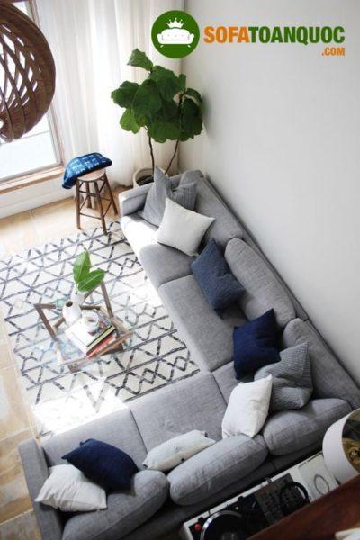chọn sofa vải cao cấp cho phòng khách