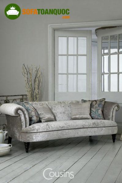sofa vải nhung cao cấp cho phòng khách