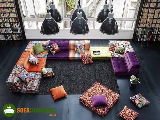 sofa vải cao cấp cho không gian phòng khách