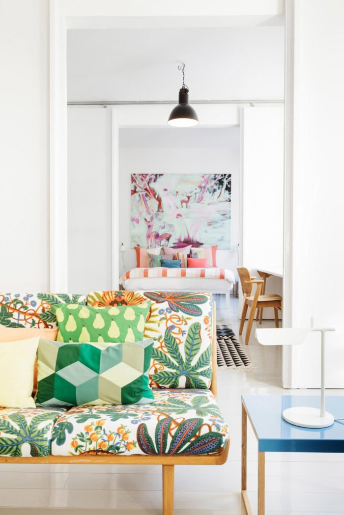 sofa vải hoa cho phòng khách