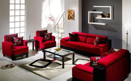 sofa màu đỏ cho người mệnh hoả