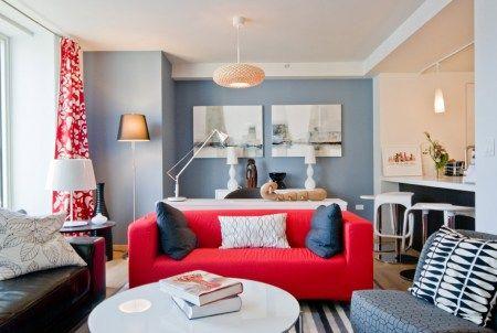 sofa văng mini màu đỏ đẹp
