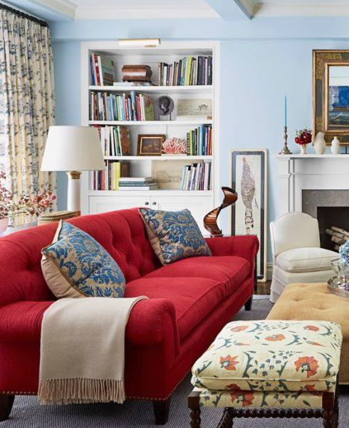 sofa màu đỏ đem lại may mắn