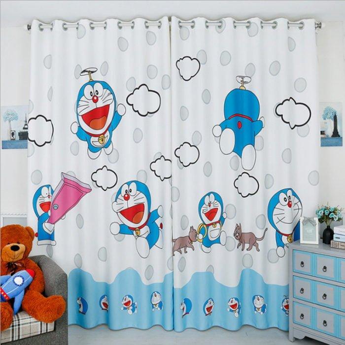 chọn mua rèm cửa hình doremon cho bé gái