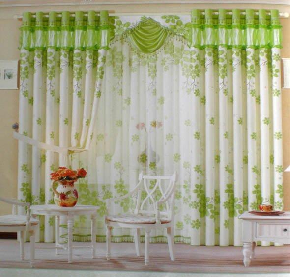 rèm cửa màu xanh lá cây cho phòng ngủ