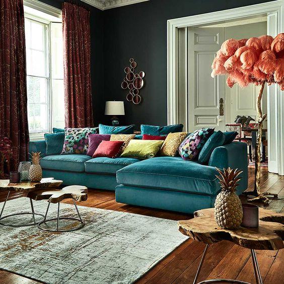 bộ bàn ghế sofa vải cho phòng khách