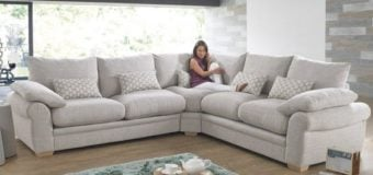 10 mẫu ghế sofa góc bọc vải cho phòng khách tiện nghi