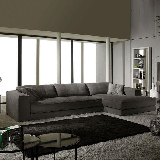 bộ bàn ghế sofa góc vải bố, vải nỉ cho căn phòng khách