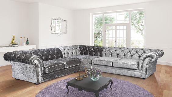 bộ bàn ghế sofa góc bọc vải phòng khách tân cổ điển