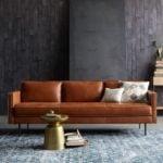 Sofa văng da thật cho không gian phòng khách nhỏ hẹp
