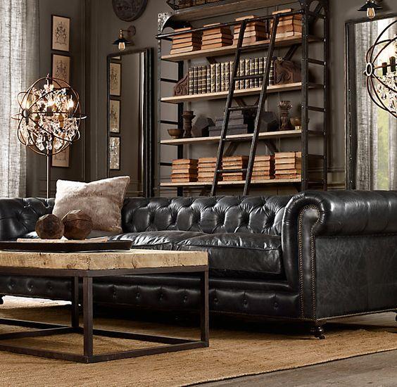 Sofa da thật đẳng cấp cho không gian phòng khách