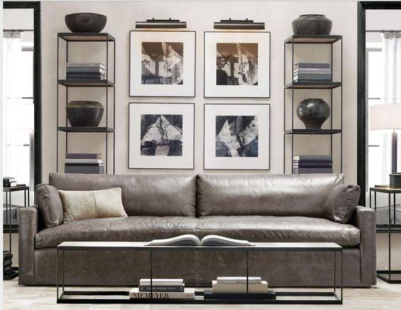 sofa văng da thật nhập khẩu Ý