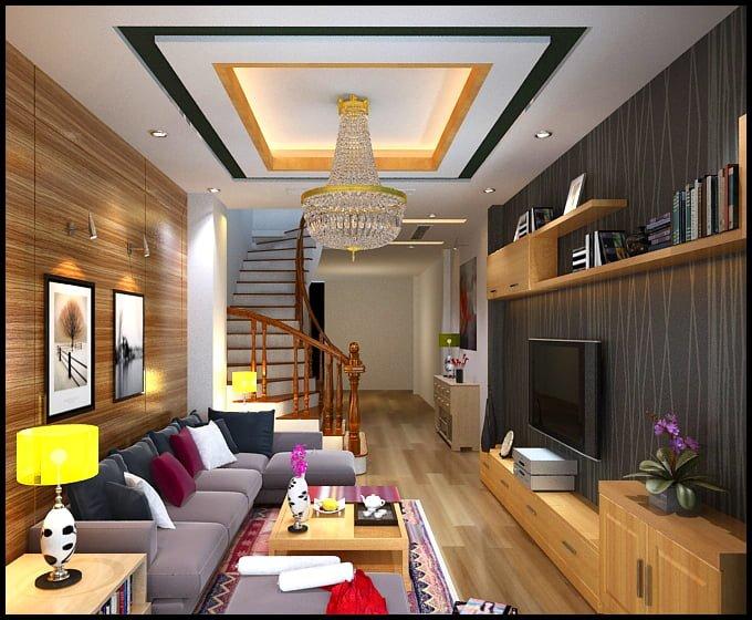 Bố trí nội thất cho không gian phòng khách nhà ống