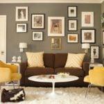 Sử dụng sofa đơn tạo đột phá cho không gian phòng khách