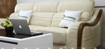 Sofa da màu trắng trẻ trung, năng động đầy sức sống