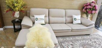 Tổng hợp mẫu sofa da màu trắng đẹp cho phòng khách sang trọng