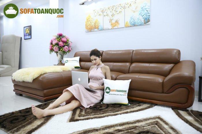 Sofa da nhập khẩu được nhiều người yêu thích và sử dụng