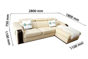 Khung gỗ khoẻ khoắn kết hợp với nệm cao cấp mang lại sự êm ái tuyệt vời của sản phẩm. Kích thước của bộ ghế có thể điều chỉnh theo yêu cầu của khách hàng