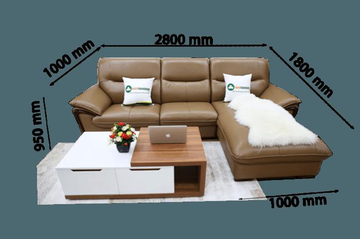 sofa da nhập khẩu màu cafe