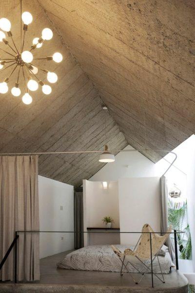 Để tạo sự riêng tư cho người sử dụng, những chiếc rèm đã được tính tới và rất cơ động khi muốn mở rộng không gian và ánh sáng