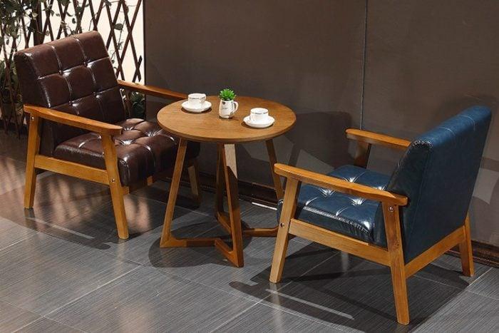 Những bộ sofa cafe đơn bằng da sang trọng tiện nghi theo phong cách cổ điển