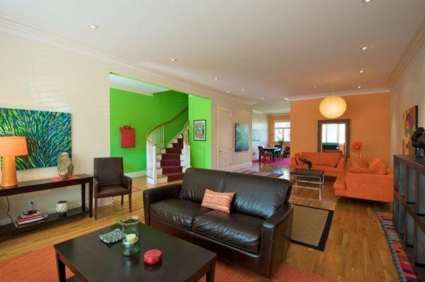 Phân chia những không gian của căn phòng bằng màu sắc