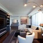 Bài trí nội thất sofa cho phòng khách dài cực kỳ sang trọng