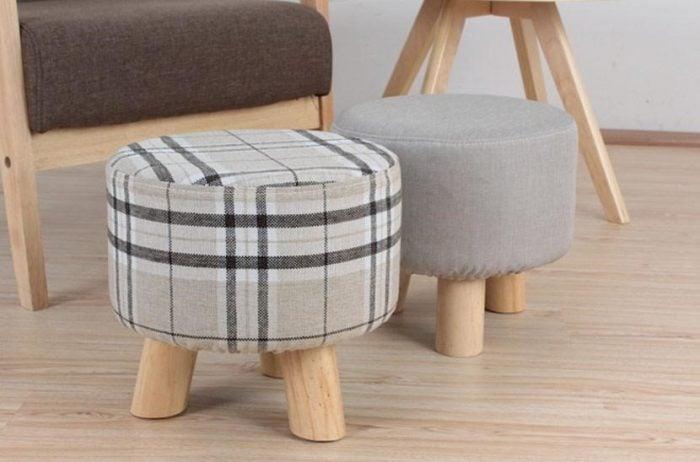 Đôn sofa bọc nỉ cực kỳ sang trọng và hiện đại