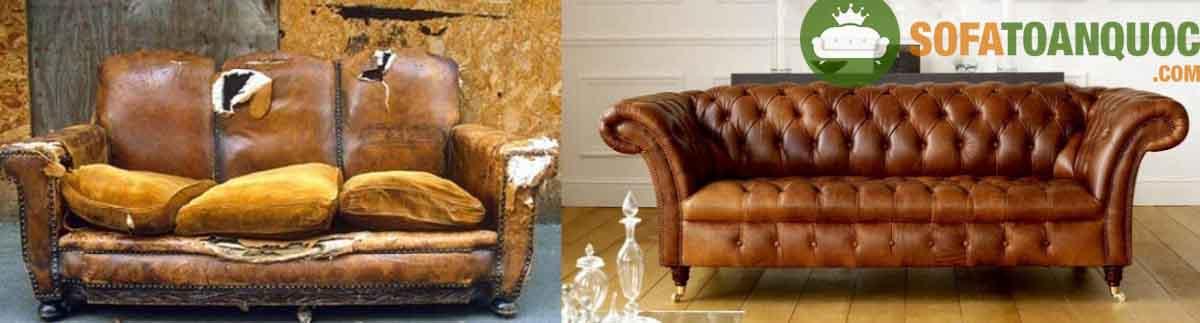 Khi ghế sofa cũ bị sờn rách thì việc bọc lại vỏ bọc là việc không thể tránh khỏi