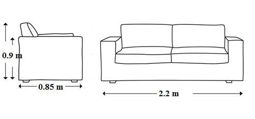 Bạn đo mét dài của ghế dài bao nhiêu sau đó nhân với giá bọc lại/mét dài ghế là sẽ ra số tiền chi phí bọc ghế