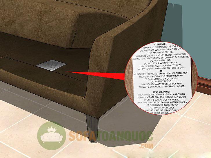 Thông tin sản phẩm trên ghế sofa cung cấp những thông tin cần thiết cho quá trình vệ sinh ghế sofa không bị hỏng, giảm độ bền