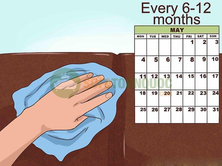 Nên tiến hành thường xuyên việc làm bóng bề mặt sản phẩm mỗi 6 hoặc 12 tháng hoặc mật độ dày hơn nếu bạn là người có thời gian.