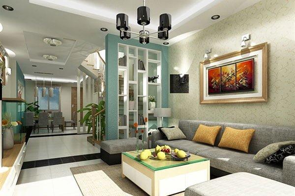 mẫu trang trí phòng khách nhà cấp 4 đẹp và sang trọng