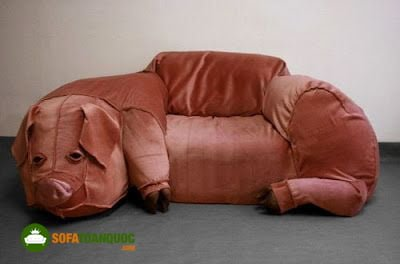 ghế sofa hình thú cho bé tập ngồi.