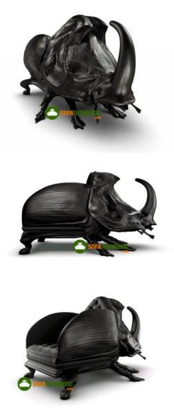 ghế sofa hình thú bọ cánh cứng.