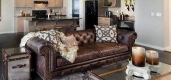 20 mẫu ghế sofa màu nâu chất liệu da thật, da công nghiệp đẹp nhất 2018