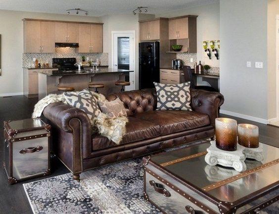 Bộ ghế sofa da bò phong cách cổ điển đẹp và sang trọng