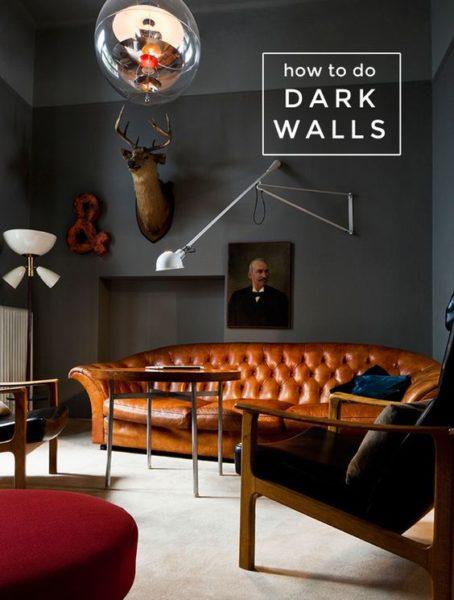 Sofa màu tối sẽ phù hợp với phong cách cổ điển hoặc tân cổ điển