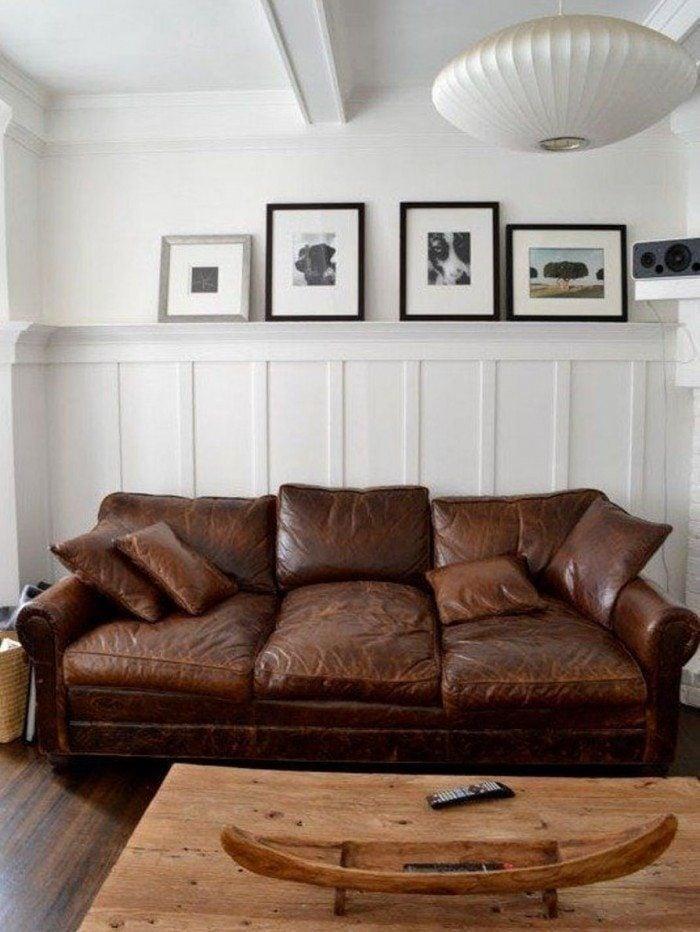 ghế sofa da thật màu nâu nhập khẩu italia
