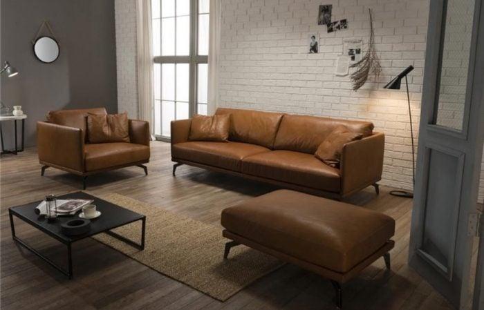 Những bộ ghế sofa da thật có độ bền từ 7-15 năm cực dễ dàng