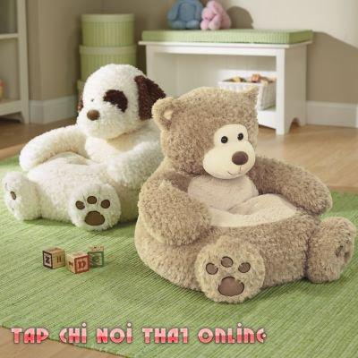 ghế sofa tập ngồi hình thú huggies cho trẻ