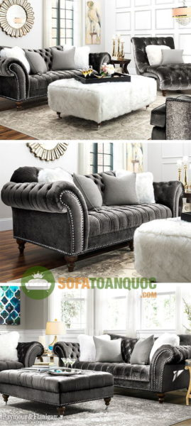 mẫu sofa vải nhung đẹp