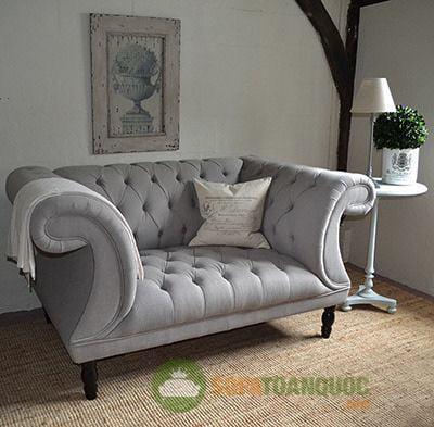 mẫu soFa đơn vải nhung đẹp cho phòng khách
