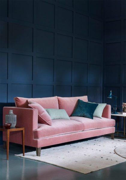 sofa màu hồng đẹp cho phòng khách