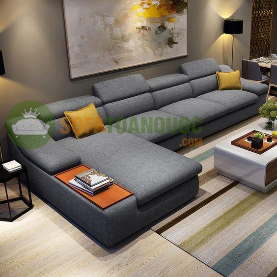 ghế sofa cho phòng khách rộng bọc vải